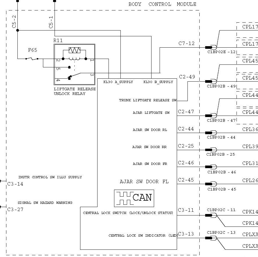 схема управления коробкой ford focus