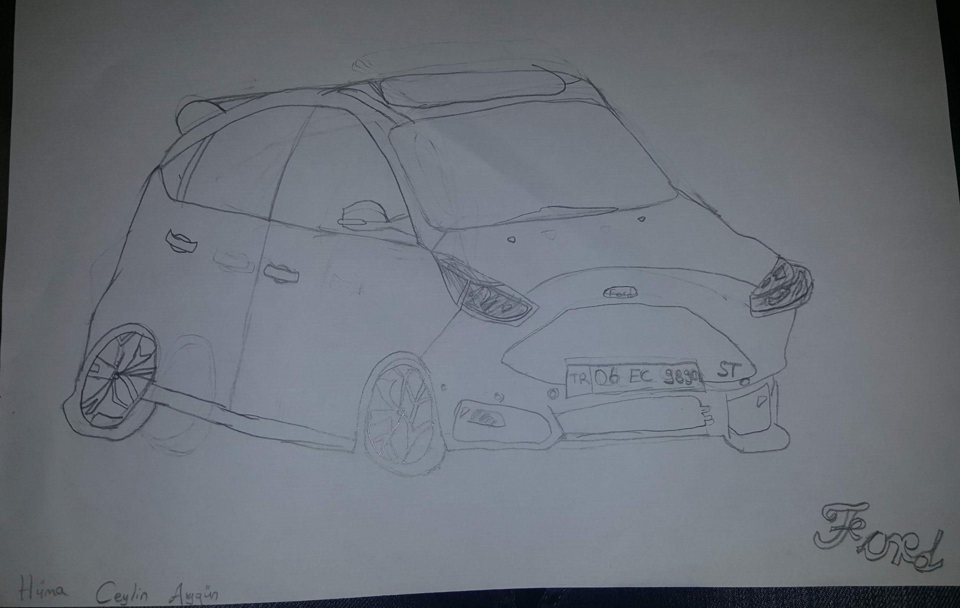 картинки форд фокус карандашом