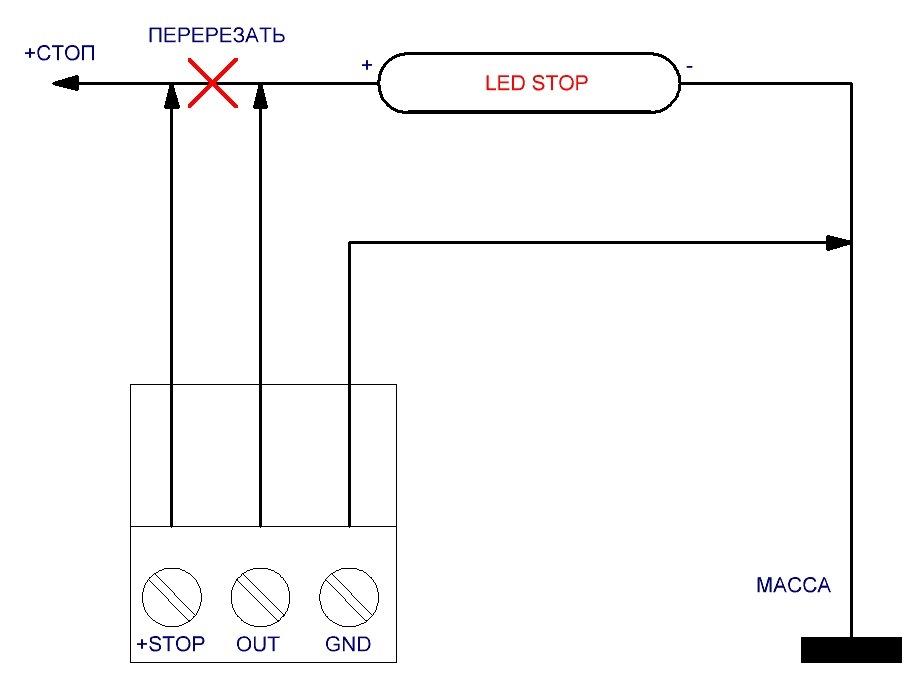 Как сделать чтобы мигали стоп сигналы