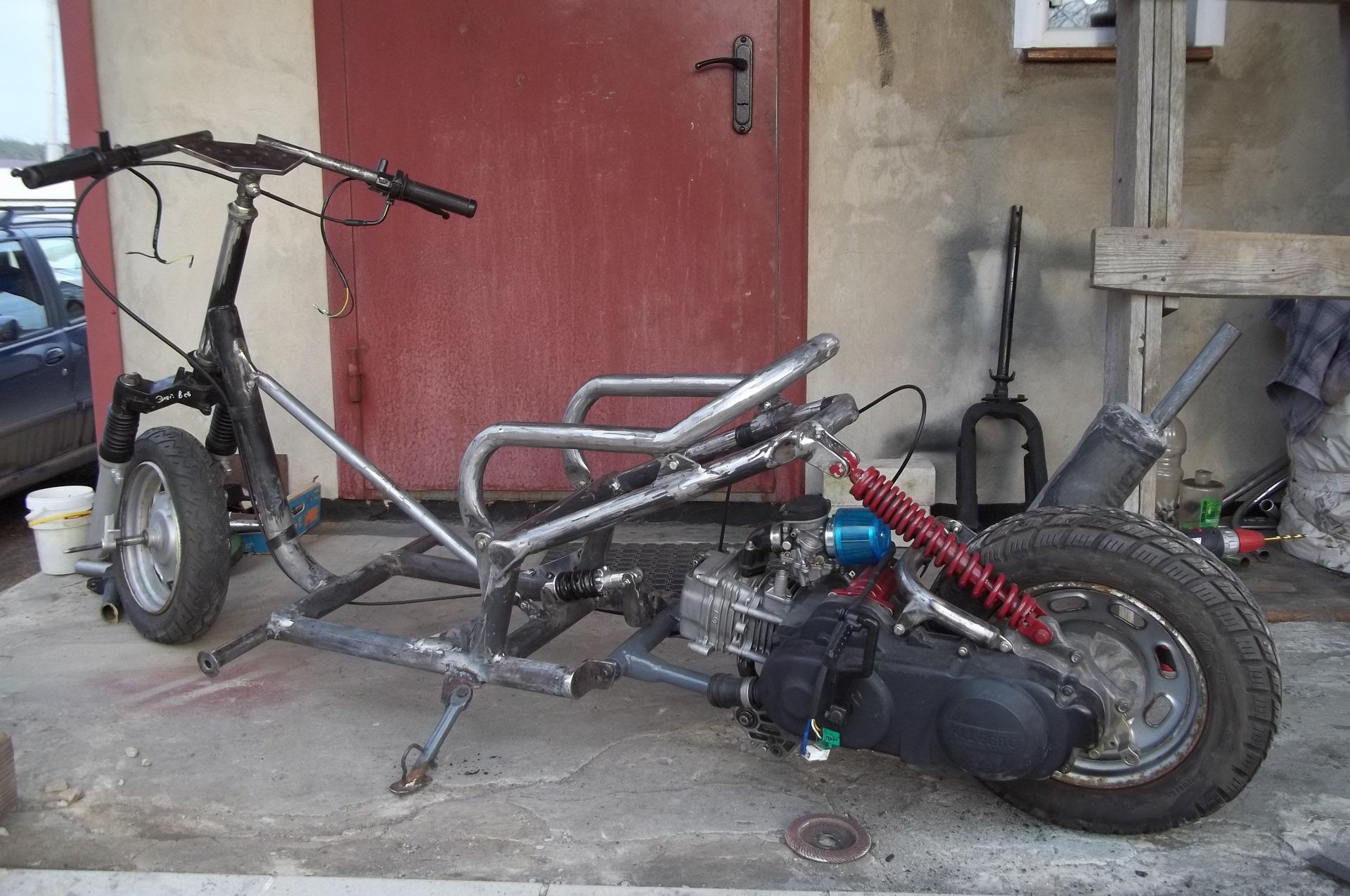 Картинки самодельных скутера