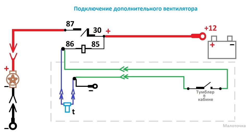 Схема подключения пьезоизлучателей