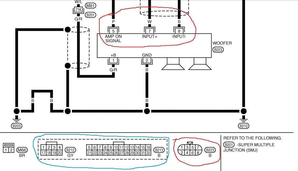 Схема подключения сабвуфера инфинити 128