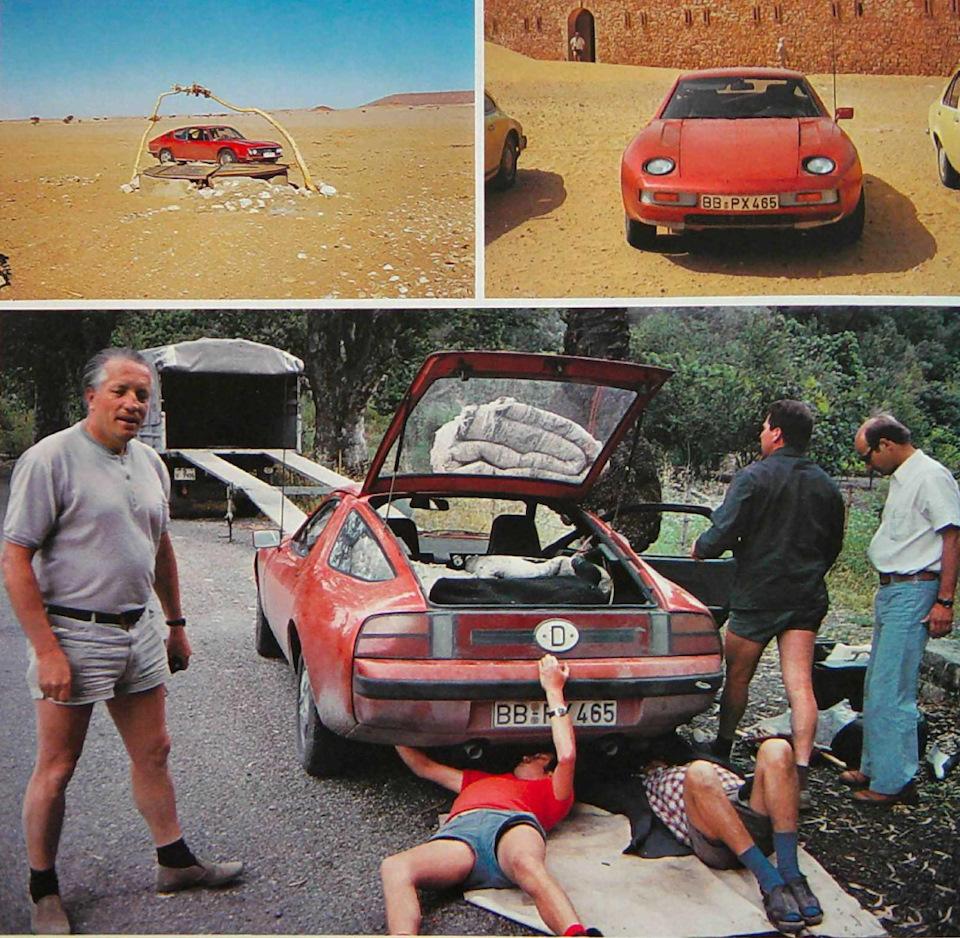 Алжирская командировка. Мужчина в шортах слева — Хельмут Ботт, в то время руководитель отдела исследований и разработок Porsche.