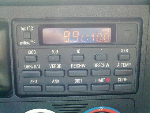 бортовой компьютер в BMW e30