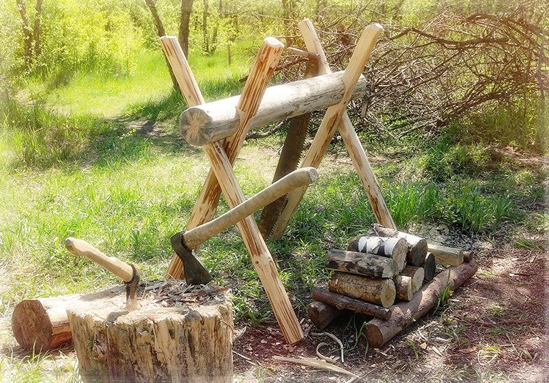 Козел для дров своими руками