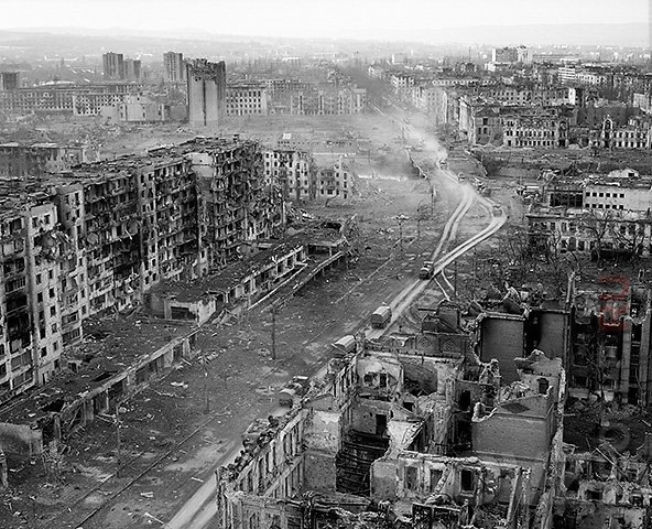"""грозній после """"освобождения"""" московскими бандами"""