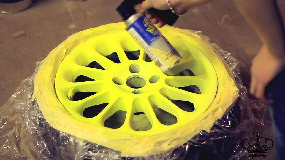 Покрасить жидкой резиной своими руками видео