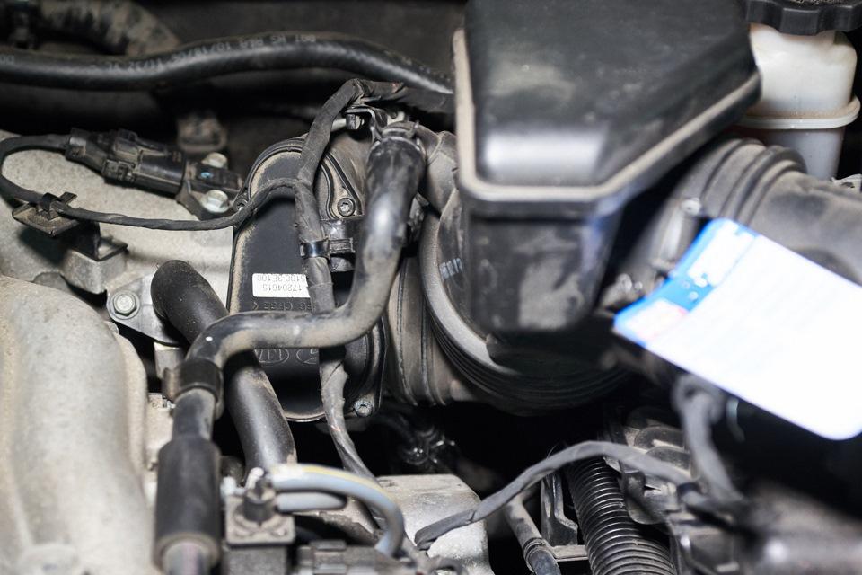 Блок дроссельной заслонки Hyundai Santa Fe в собранном виде