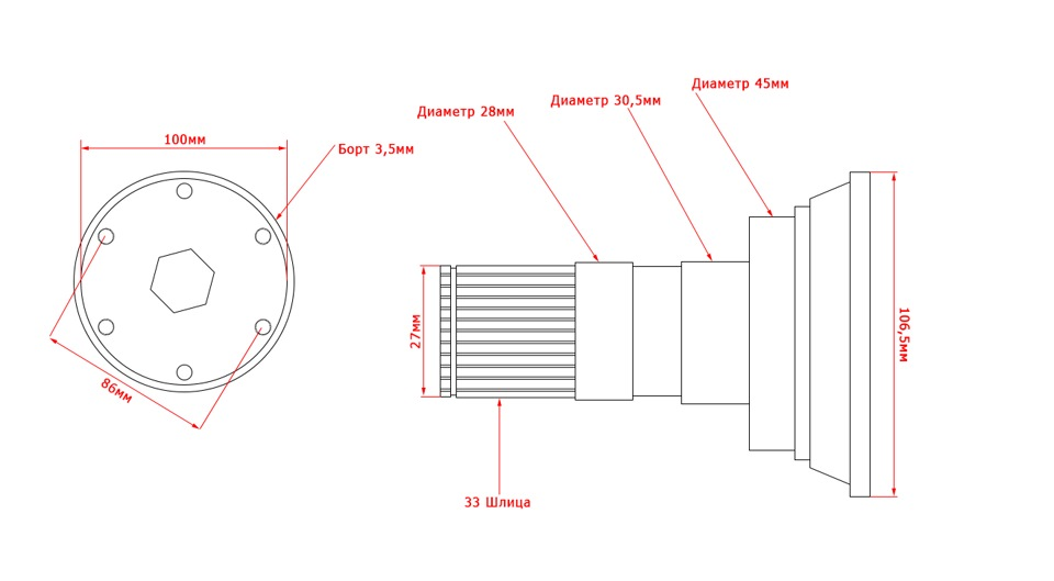 фланцев и схема на скорую