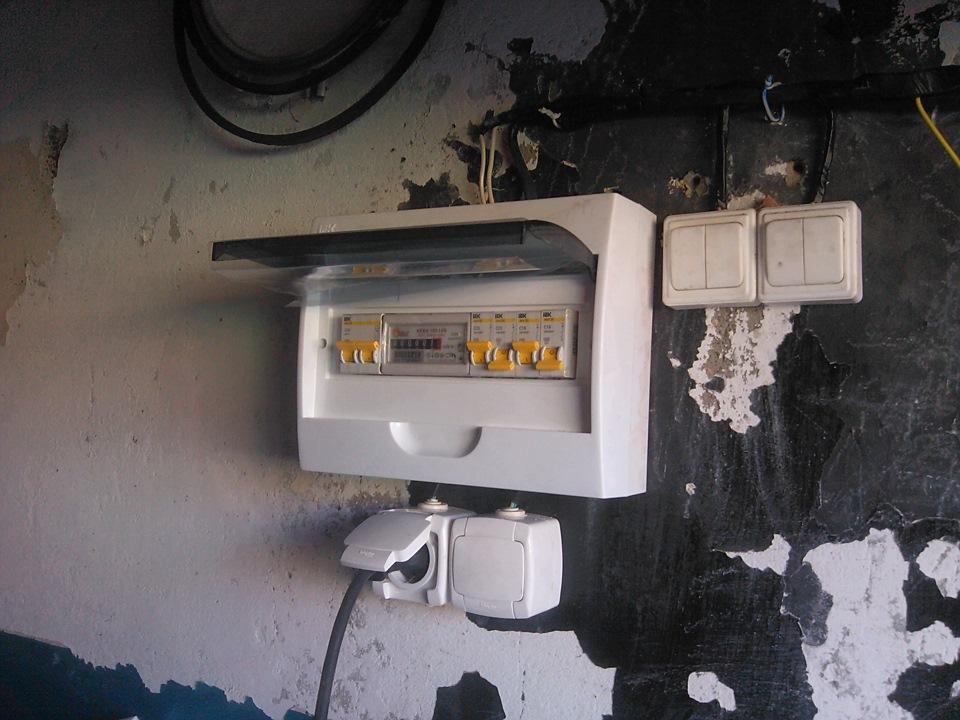 Купить электросчетчик в гараже чем обшить металлический гараж