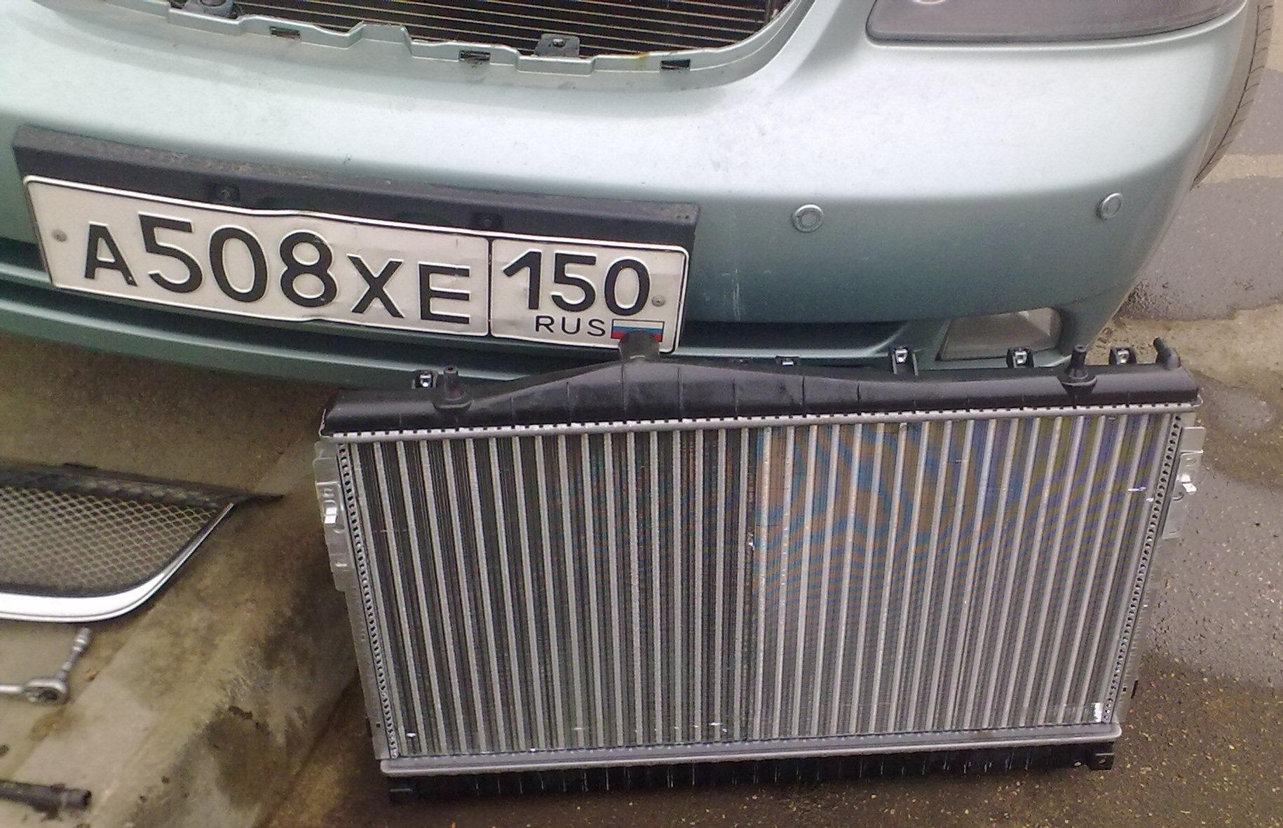 Замена радиатора охлаждения лачетти