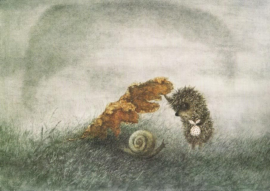 открытка ежик с медвежонком хотят