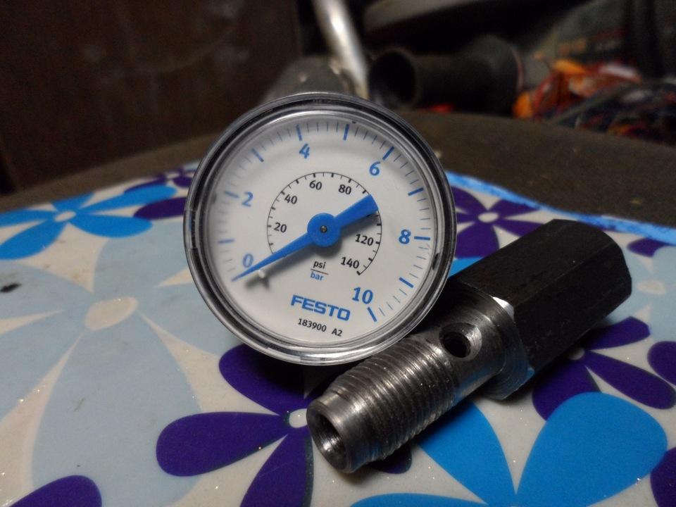 Манометр для проверки давления масла своими руками 73