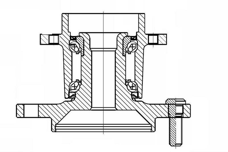 конструктив цапфы и ступицы