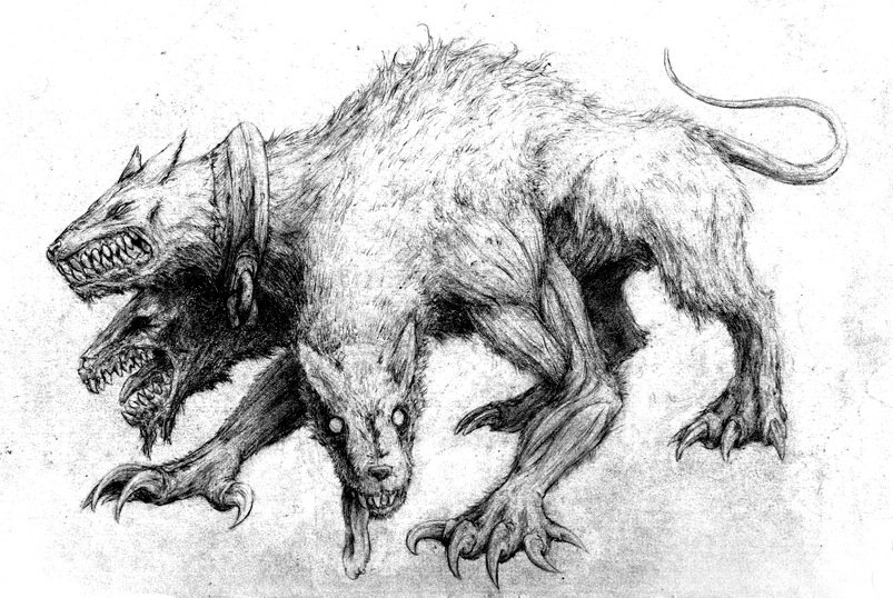 первый адские псы рисунки полная