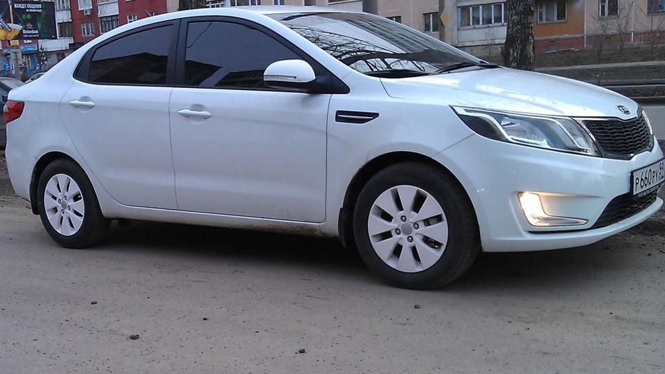 Киа рио 2013 фото белый