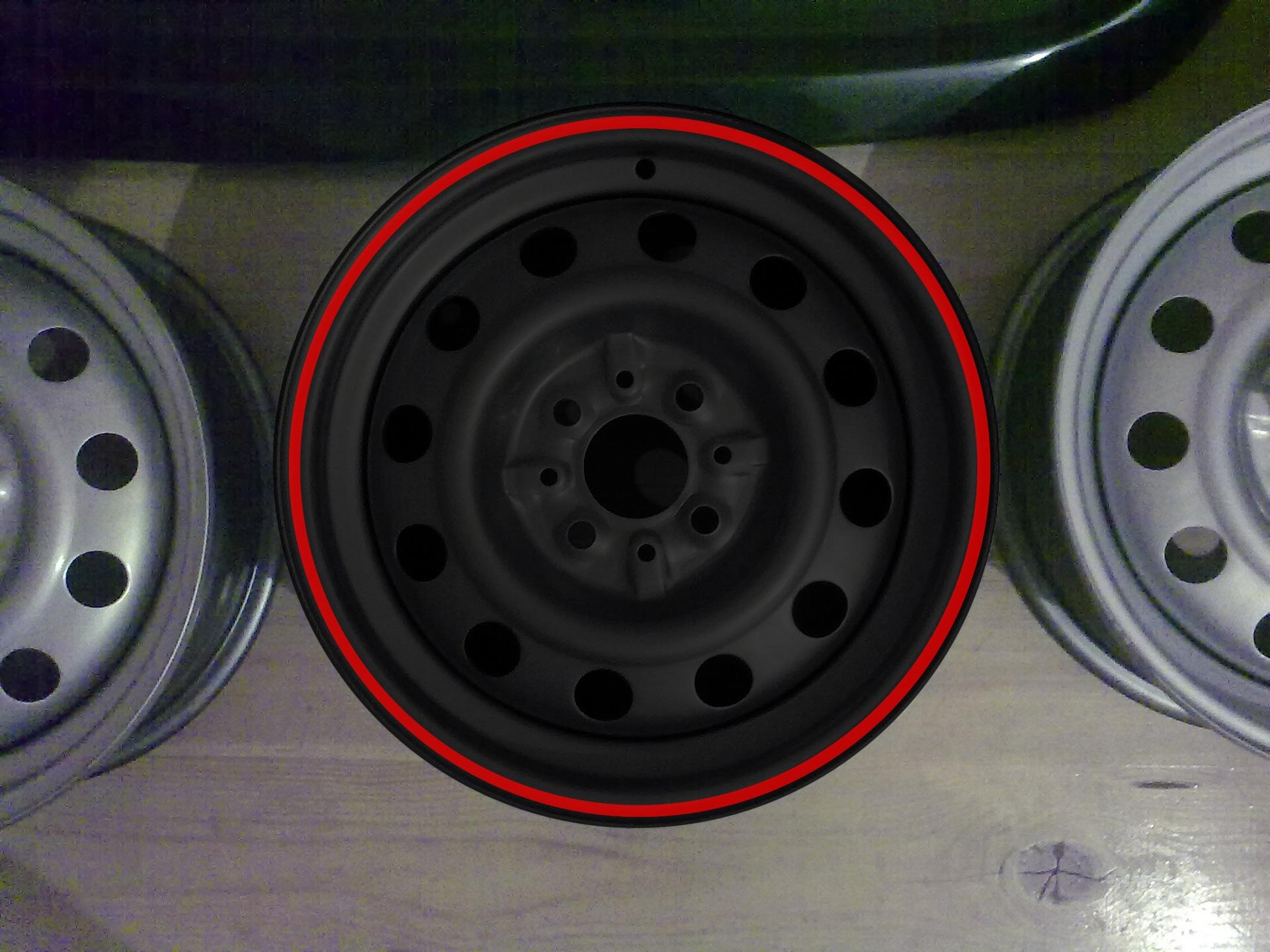 Покраска штампованных дисков своими руками в два цвета