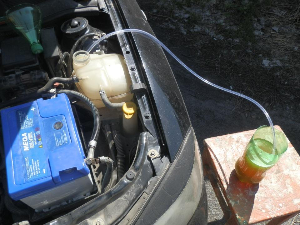 замена охлаждающей жидкости в опель зафира