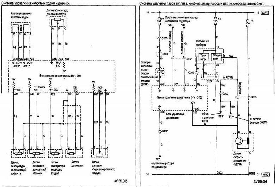 aveo схема подключения генератора