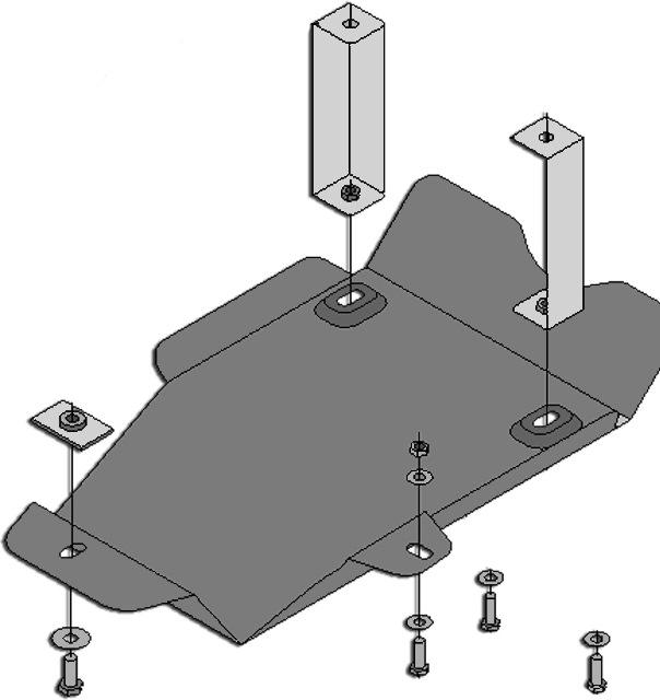 инструкция по установке защиты бензобака и заднего моста дастера