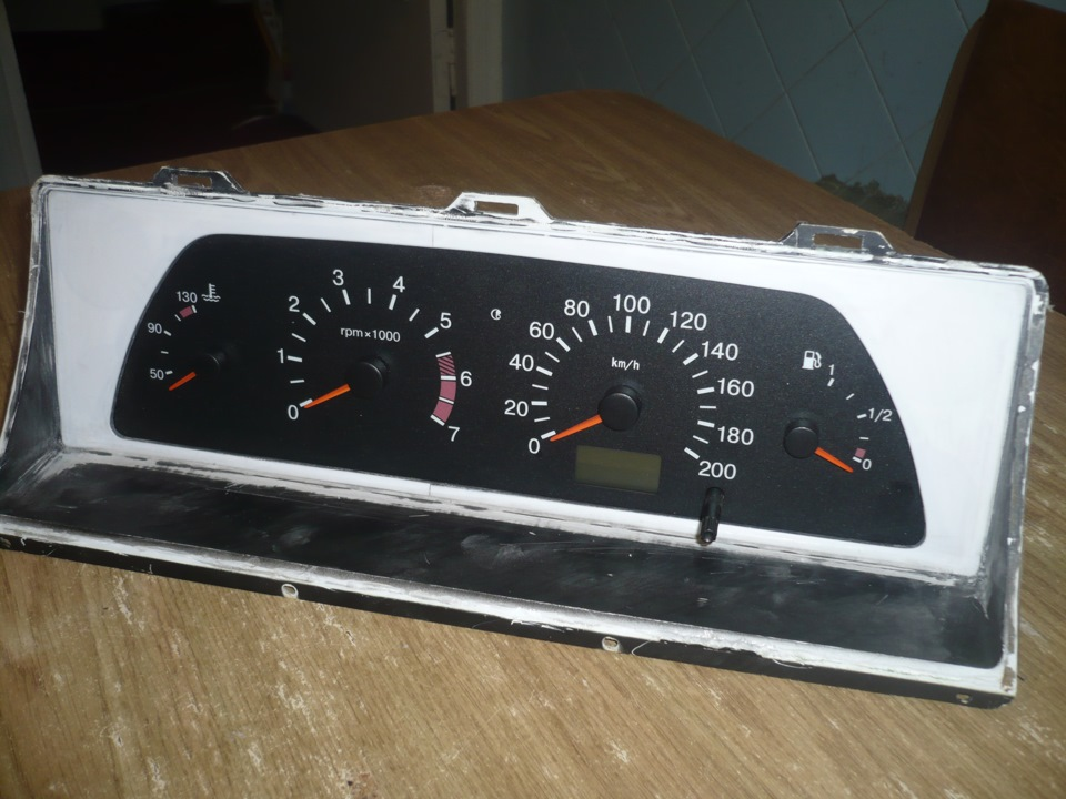 Фото №51 - панель приборов ВАЗ 2110 на ВАЗ 2107