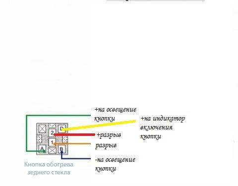 Схема кнопки в приоре