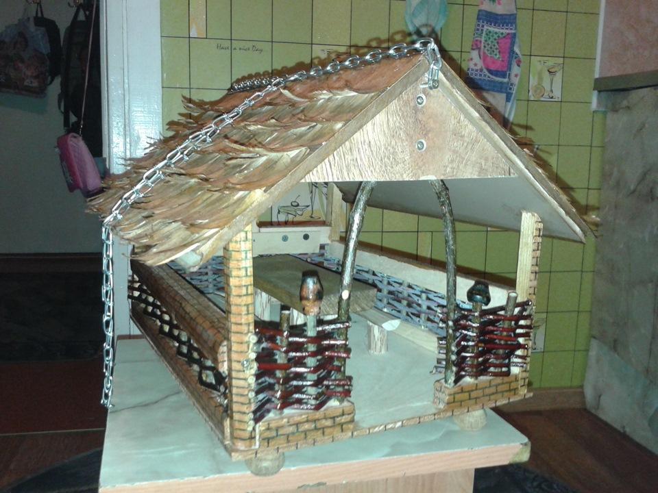 Как сделать кормушку для птиц для школы