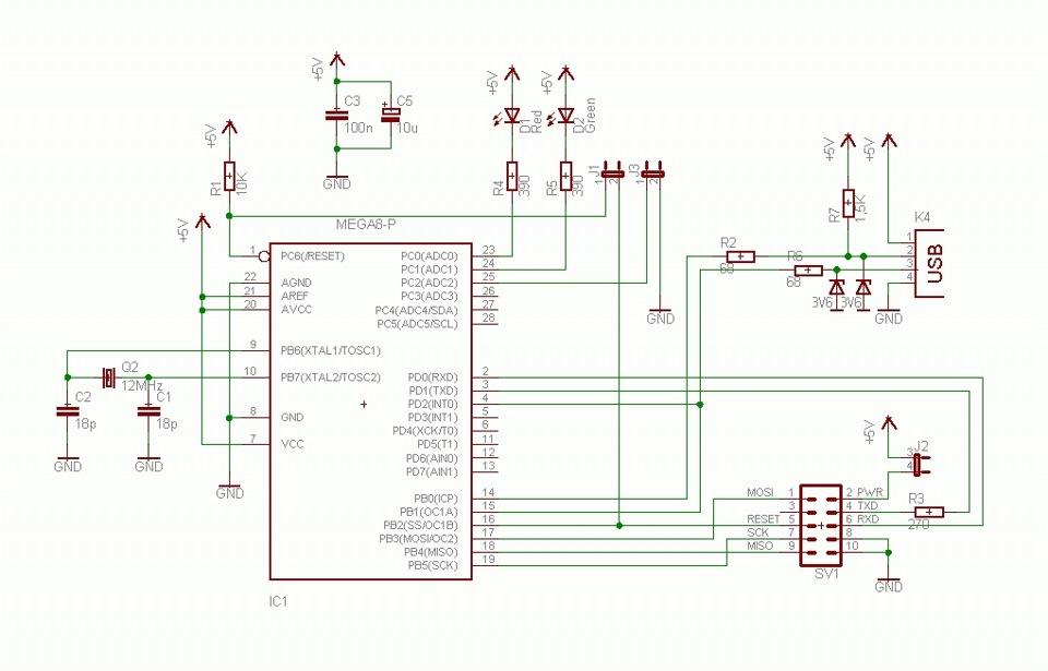 Usbasp схема программатора на atmega8 512
