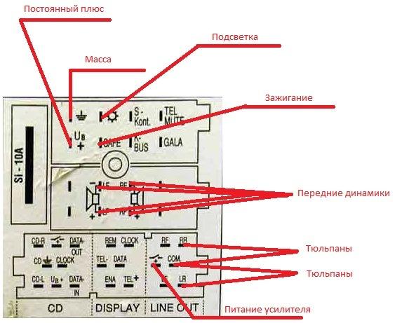 схема подключения сабуфера audi a6
