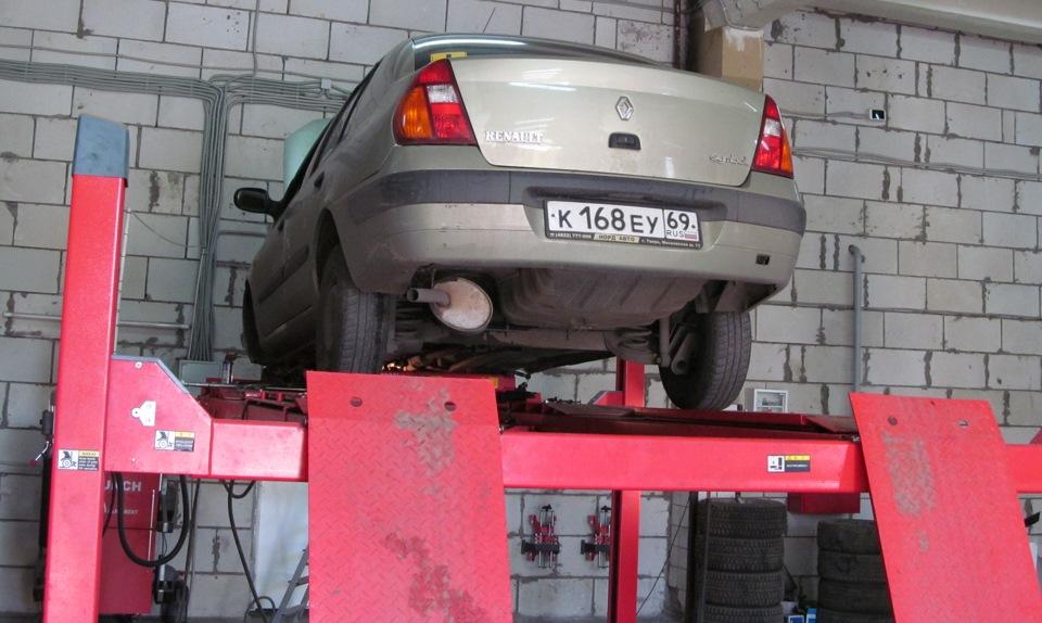 Renault symbol замена опорных подшипников