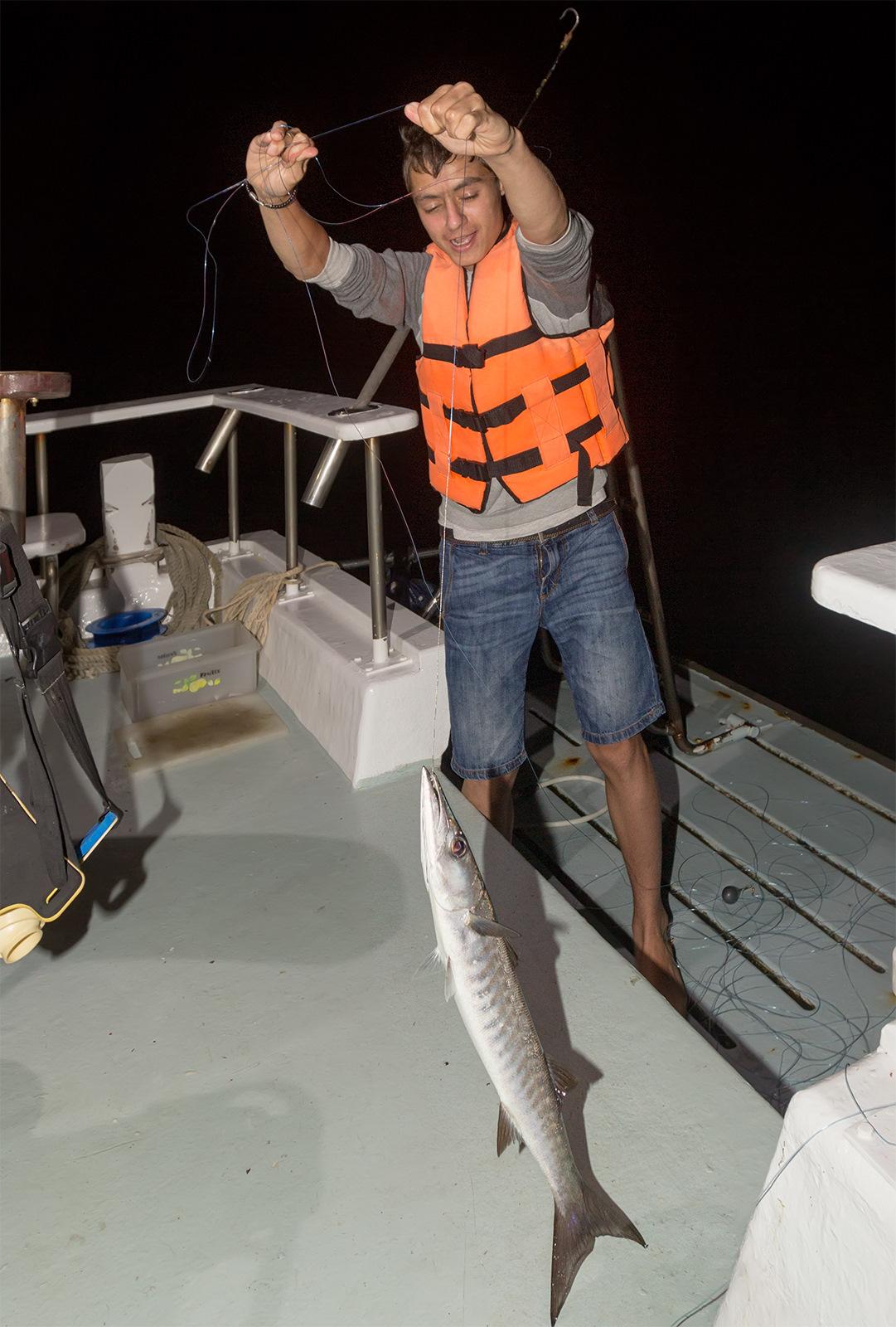 Ночная рыбалка в тайланде