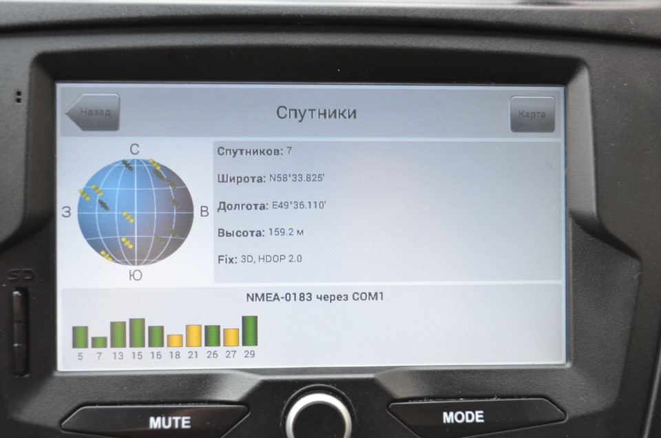 u-blox 7 GPS в ММС 2190 upd 22 04 2016 — Лада Калина Универсал, 1 6