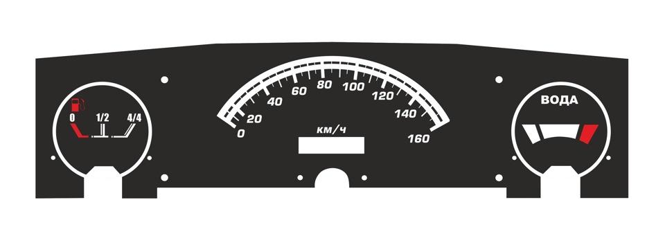 Приборная панель 2106 в 2101 альтернативные приборы 06