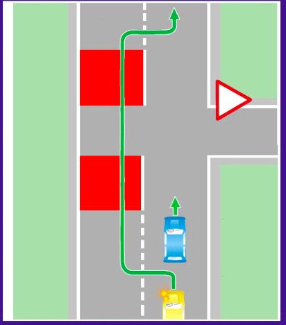 Разрешен обгон на перекрестке по главной дороге