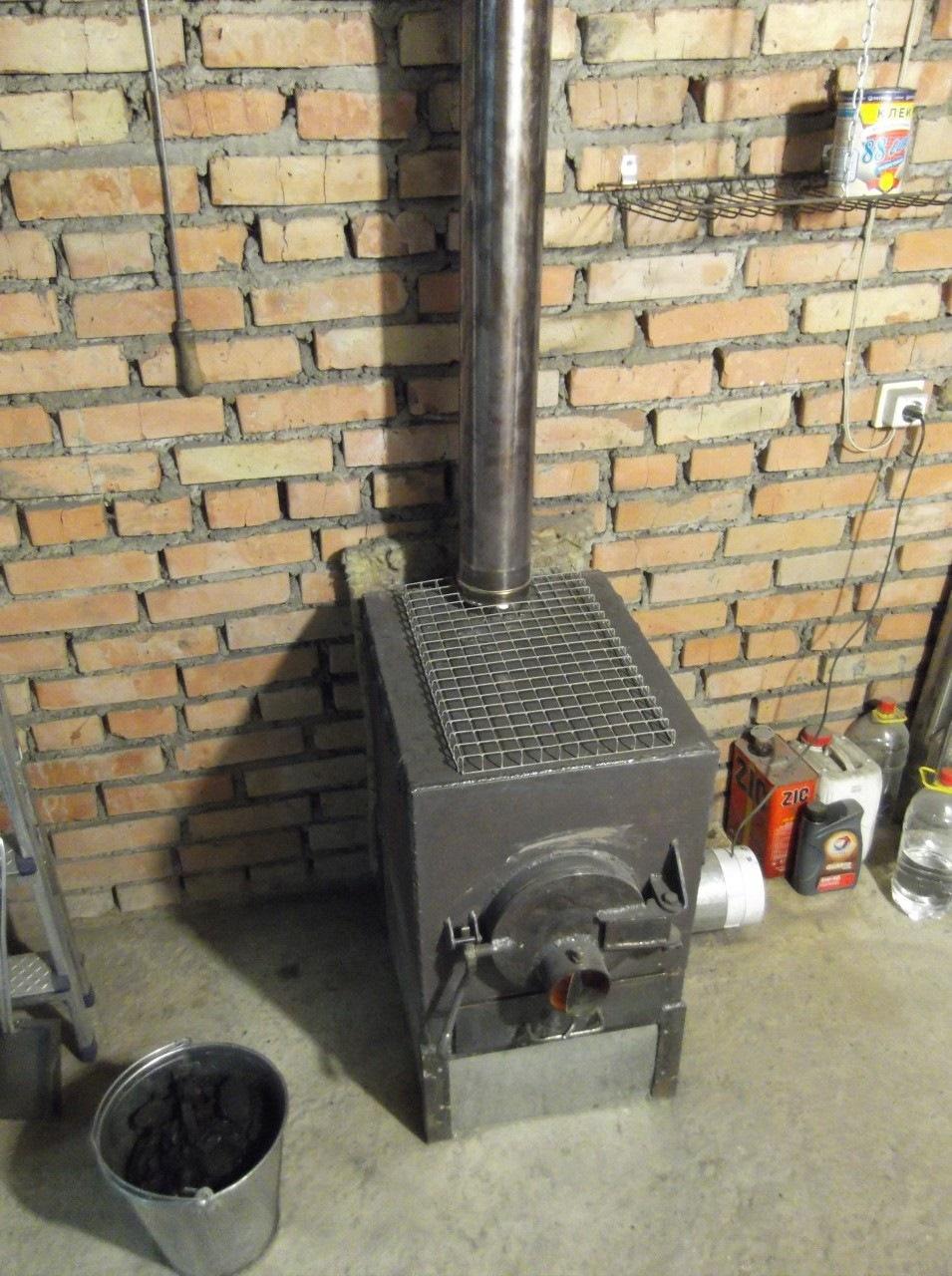Печь для гаража своими руками железная