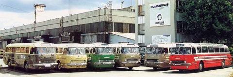 На слёте владельцев Ikarus 55 из Венгрии и Германии,  2001 год.