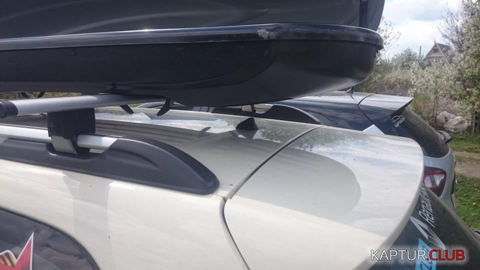 Антенну пришлось снять и открытие задней двери багажника полностью под вопросом