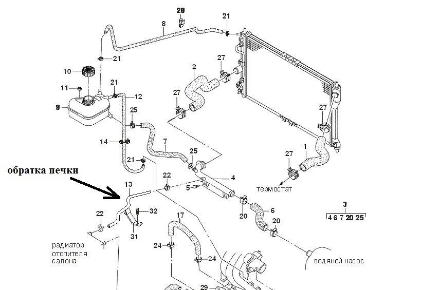 Система отопления ланос 1.5 схема фото 132