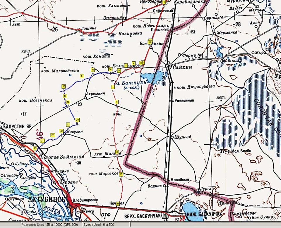 Схема проезда между Эльтоном и