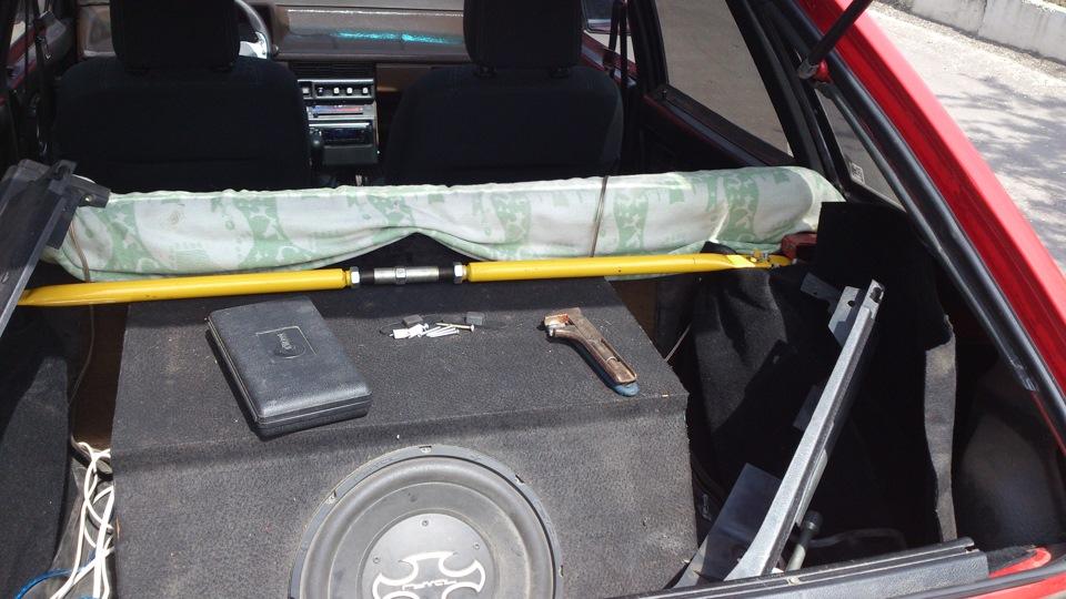 Как сделать багажник на ваз 2109 от кнопки 584