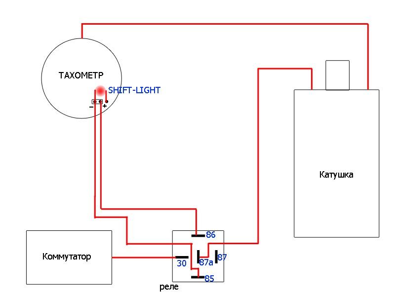 Тахометр на 2101 схема