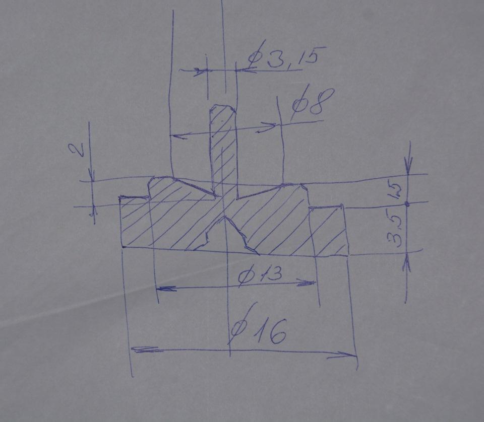 приспособление для развальцовки тормозных трубок чертежи