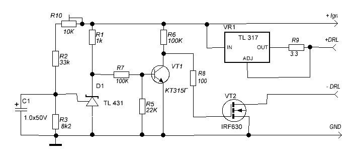 Схемы контроллеров drl