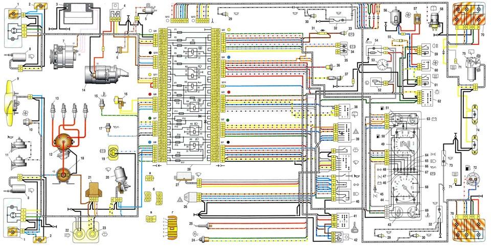 Зарядка на ваз 2107 инжектор схема электрооборудования с блоком