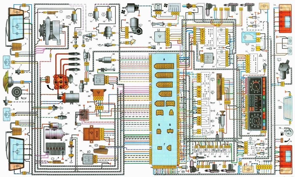 Схемы электро соединений авто