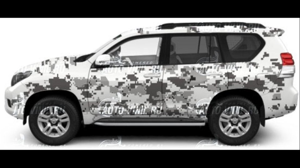 Камуфляж на авто в рисунках
