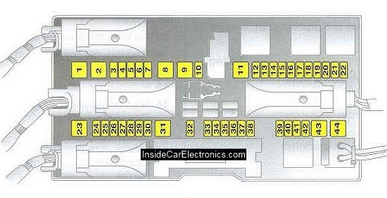 astra h location of fuses in the trunk \u2014 logbook opel astra Opel Astra