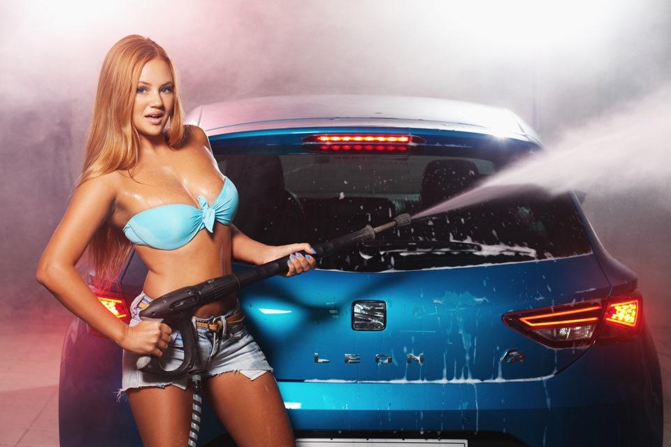 Girl masterbates in car wash video 5