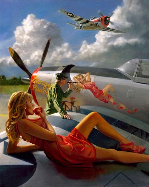Прикольные картинки девушка и самолет, для открытки торт