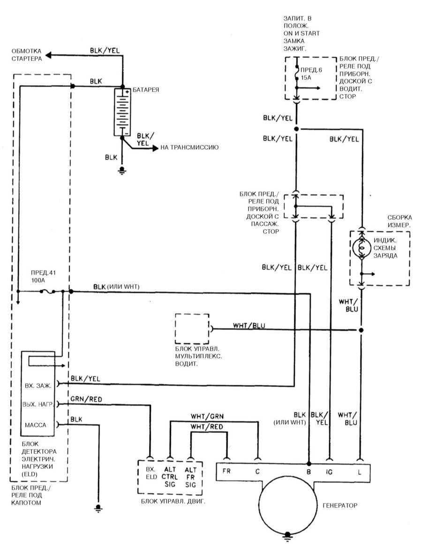 Схемы генераторов хонда